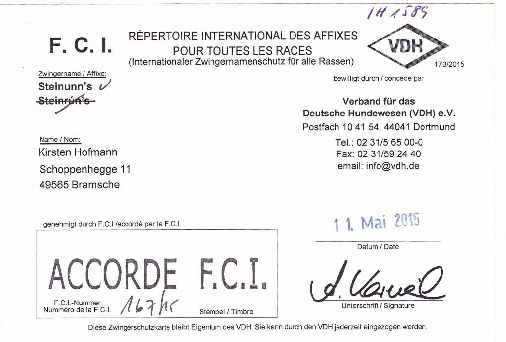 FCI-Zwingername-Steinunn