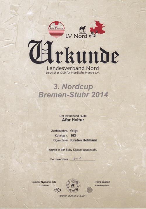 Kari-Nordcup-Urkunde